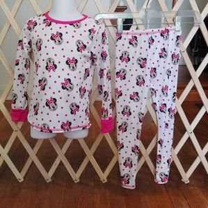 💮size 4 Minnie mouse cuddl duds pjs💮